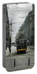 Trolley Car In Lisbon. Portable Battery Charger