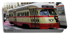 Trolley Number 1079 Portable Battery Charger by Steven Spak