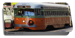 Trolley Number 1080 Portable Battery Charger by Steven Spak