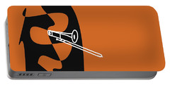 Trombone In Orange Portable Battery Charger