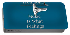 Trombone Is What Feelings Sound Like 5585.02 Portable Battery Charger