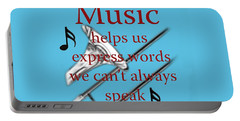 Trombone Music Expresses Words Portable Battery Charger