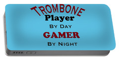 Trombone Player By Day Gamer By Night 5626.02 Portable Battery Charger