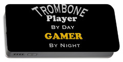 Trombone Player By Day Gamer By Night 5627.02 Portable Battery Charger