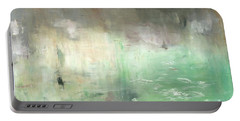 Portable Battery Charger featuring the painting Tropic Waters by Michal Mitak Mahgerefteh