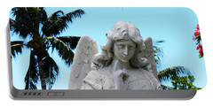 Tropical Angel With Tear Portable Battery Charger