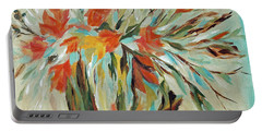 Portable Battery Charger featuring the painting Tropical Arrangement by Joanne Smoley