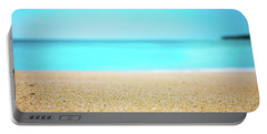 Tropical Art - Turquoise Sand Beach Lagoon Photography Portable Battery Charger