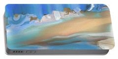 Tropical Beach Abstract Portable Battery Charger by Lenore Senior