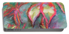 Portable Battery Charger featuring the painting Tropical Beauty by Wendy Ray