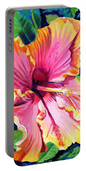 Tropical Bliss Hibiscus Portable Battery Charger