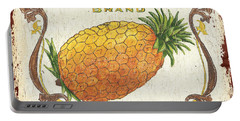 Tropical City Pineapple Portable Battery Charger by Debbie DeWitt