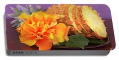 Tropical Delight Still Life Portable Battery Charger by Ben and Raisa Gertsberg