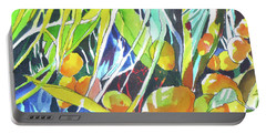 Portable Battery Charger featuring the painting Tropical Design 1 by Rae Andrews