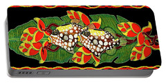 Portable Battery Charger featuring the painting Tropical Fish by Debbie Chamberlin