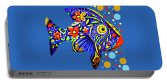 Portable Battery Charger featuring the digital art  Tropical Fish by Eleni Mac Synodinos