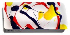 Portable Battery Charger featuring the painting Tropical Fish by Fred Wilson