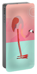 Tropical Flamingo Portable Battery Charger