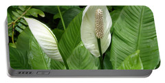 Tropical Flower Portable Battery Charger by Margaret Brooks