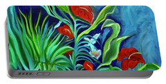 Tropical Flowers 1 Portable Battery Charger