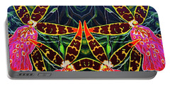 Portable Battery Charger featuring the painting Tropical Flowers by Debbie Chamberlin