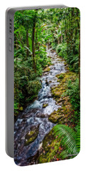 Portable Battery Charger featuring the photograph Tropical Forest Stream by Christopher Holmes