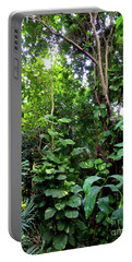 Portable Battery Charger featuring the photograph Tropical Garden by Francesca Mackenney
