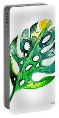 Tropical Greenery - Philodendron Leaf Portable Battery Charger