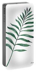Tropical Greenery - Palm Tree Leaf Portable Battery Charger