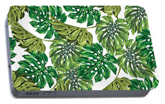 Tropical Haven  Portable Battery Charger by Mark Ashkenazi