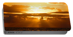 Portable Battery Charger featuring the photograph Tropical Hawaiian Sunset by Michael Rucker