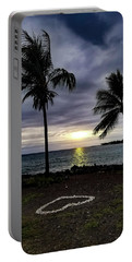 Portable Battery Charger featuring the photograph Tropical Hawaiian Sunset by Pamela Walton