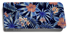 Tropical Leaf Pattern 4 Portable Battery Charger