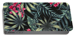 Tropical Leaf Pattern  Portable Battery Charger
