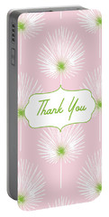 Tropical Leaf Thank You- Art By Linda Woods Portable Battery Charger
