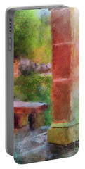 Portable Battery Charger featuring the digital art Tropical Memories by Lois Bryan