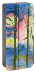 Tropical Moonlight And Bamboo Portable Battery Charger