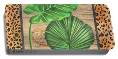 Tropical Palms 1 Portable Battery Charger by Debbie DeWitt