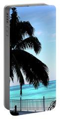 Tropical Sea View From Patio Portable Battery Charger