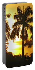 Tropical Sunset Palm Portable Battery Charger