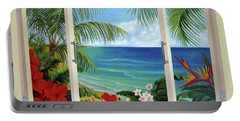 Tropical Window Portable Battery Charger
