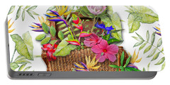 Tropicals In A Basket Portable Battery Charger by Larry Bishop