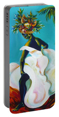 Tropicana Portable Battery Charger by Anna  Duyunova