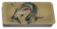 Trout Eating Portable Battery Charger