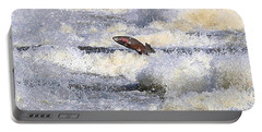 Portable Battery Charger featuring the digital art Trout by Robert Pearson