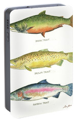 Trout Species Portable Battery Charger by Juan Bosco