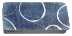 Portable Battery Charger featuring the painting True Blue Ensos by Julie Niemela