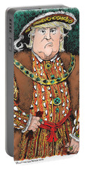 Trump As King Henry Viii Portable Battery Charger