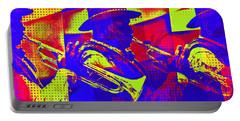 Trumpet Player Pop-art Portable Battery Charger