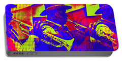 Trumpet Player Pop-art Portable Battery Charger